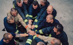 First Responders Supporting Each Other