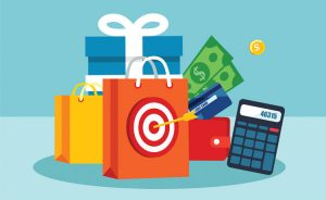 shopping bags calculator and customer discount