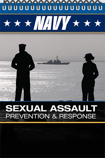 Pocket Guide cover - NAVY - Sexual Assault Prevention & Response